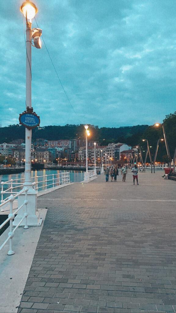 Viaggio a Bilbao - fiume Nervión